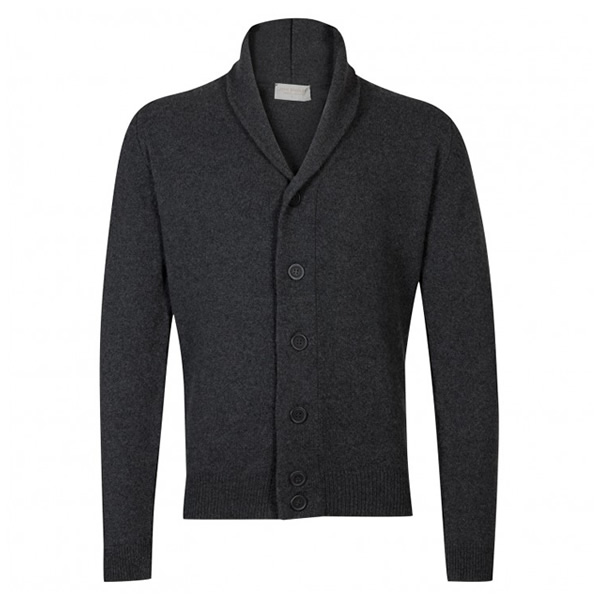 The Patterson In Charcoal Cardigan by John Smedley is a great gift for the man in your life, classic in design and great to keep warm and Christmas