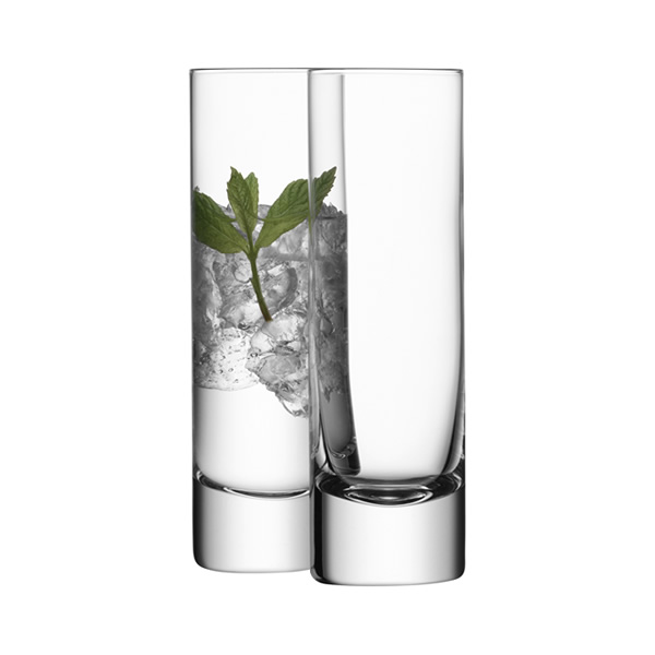 These simple and elegant highball glasses are equally suited to fine dining or casual evening drinks