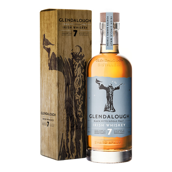 Glendalough Double Barrel Irish Whiskey is a single grain Irish whiskey
